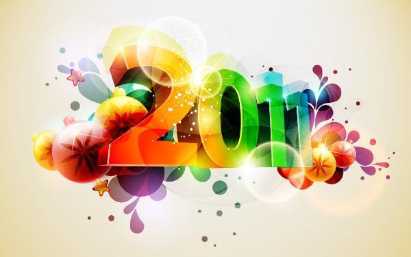 Обои для Рабочего стола - Новогодние 2011, Рождественские / New Year's, Winter Wallpaper (2010-2011) JPG