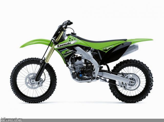 Обновленные кроссовые мотоциклы Kawasaki KX450F и KX250F 2012
